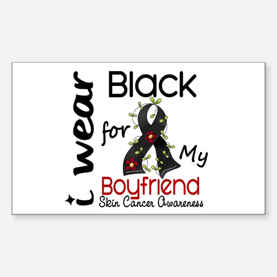 I Wear Black 43 Skin Cancer Sticker (Rectangle)