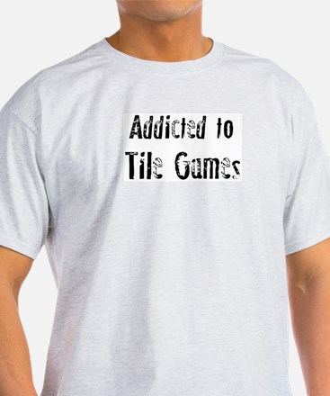 Addicted to Tile Games Ash Grey T-Shirt