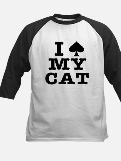 I Spade My Cat Kids Baseball Jersey