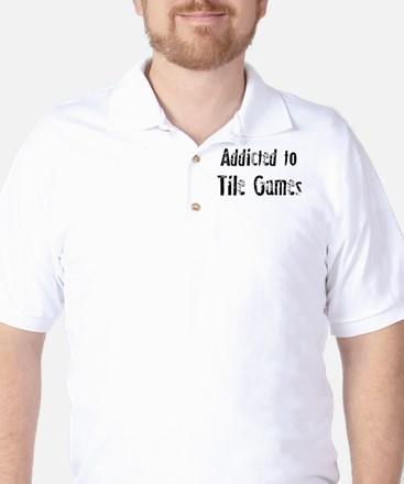 Addicted to Tile Games Golf Shirt