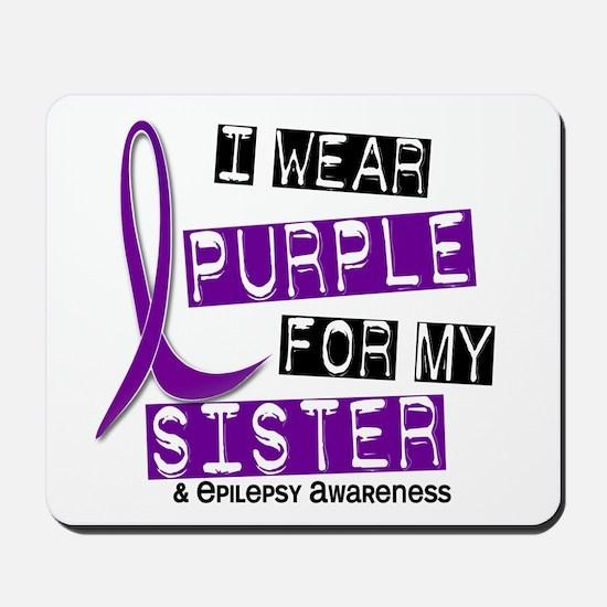 I Wear Purple 37 Epilepsy Mousepad