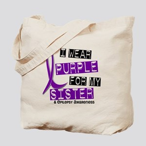 I Wear Purple 37 Epilepsy Tote Bag
