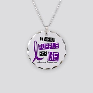 I Wear Purple 37 Epilepsy Necklace Circle Charm