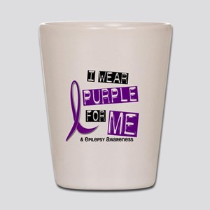 I Wear Purple 37 Epilepsy Shot Glass