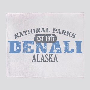 Denali National Park Alaska Throw Blanket