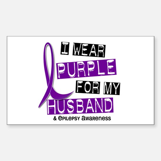 I Wear Purple 37 Epilepsy Sticker (Rectangle)