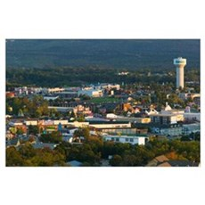 Aerial view of buildings in a city, Branson, Misso Poster