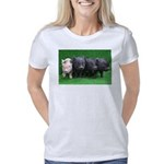 4 micro pigs in a row Women's Classic T-Shirt