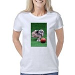 Baby micro pig with Peach Women's Classic T-Shirt