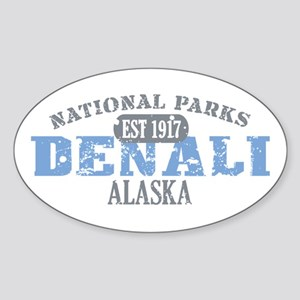 Denali National Park Alaska Sticker (Oval)