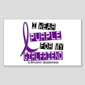 I Wear Purple 37 Epilepsy Sticker (Rectangle)