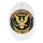 Border Patrol, Citizen - Oval Ornament