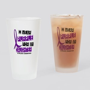 I Wear Purple 37 Epilepsy Drinking Glass