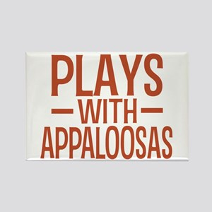 PLAYS Appaloosas Rectangle Magnet