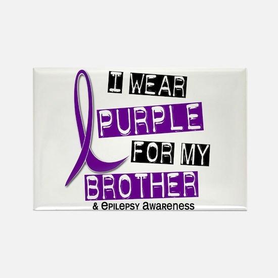 I Wear Purple 37 Epilepsy Rectangle Magnet