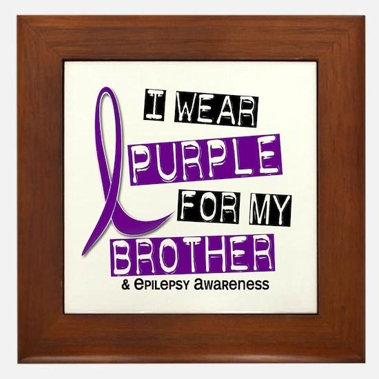 I Wear Purple 37 Epilepsy Framed Tile