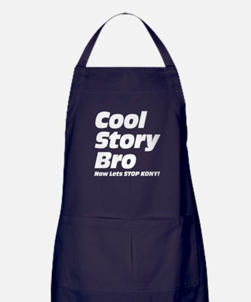 Cool Story Bro: Now Lets Stop Kony Apron (dark)