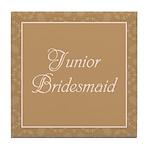Bridal Blush - Junior Bridesmaid - Tile Coaster