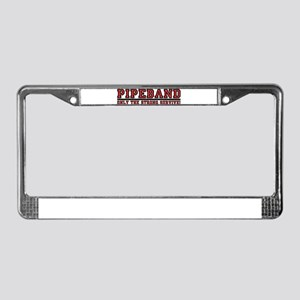 Pipe Band: Only the Strong Su License Plate Frame