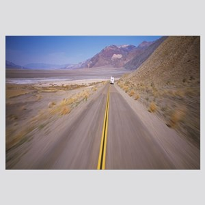 Motor home on the road, Death Valley, California