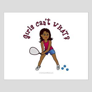 Racquetball Girl (Dark) Small Poster