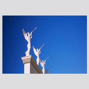 Low angle view of statues on a wall, Caesars Place