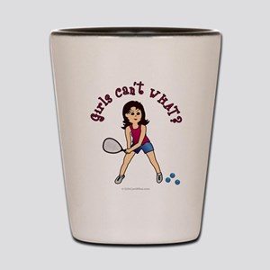 Racquetball Girl (Light) Shot Glass
