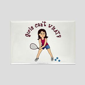 Racquetball Girl (Light) Rectangle Magnet