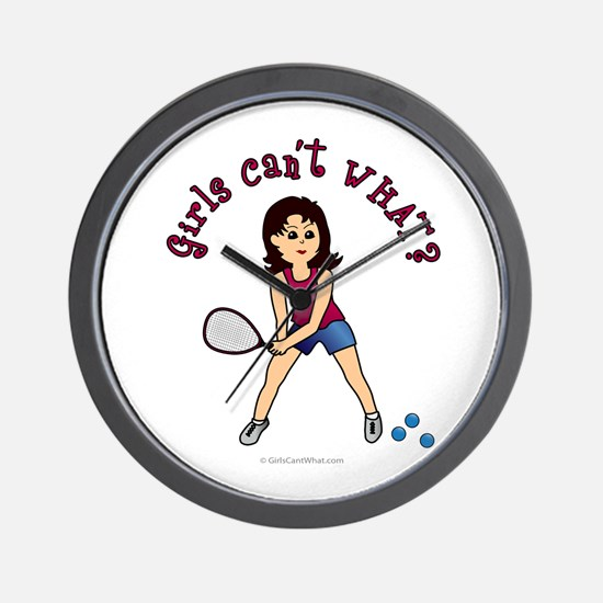Racquetball Girl (Light) Wall Clock
