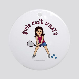 Racquetball Girl (Light) Ornament (Round)