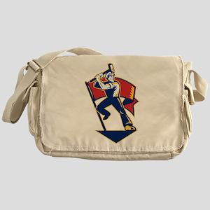 communist worker Messenger Bag