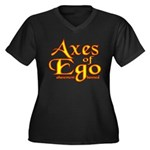 Axes logo 3 Women's Plus Size V-Neck Dark T-Shirt