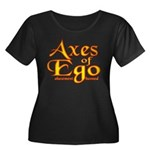 Axes logo 3 Women's Plus Size Scoop Neck Dark T-Sh