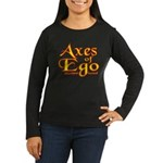 Axes logo 3 Women's Long Sleeve Dark T-Shirt