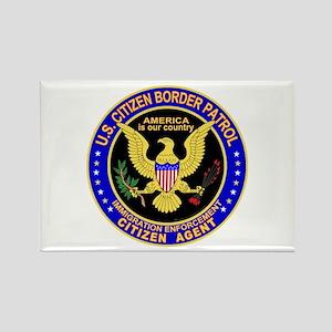 Border Patrol, US Citizen - Rectangle Magnet