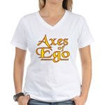 Axes logo 3 Women's V-Neck T-Shirt