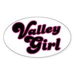 Valley Girl #1 Oval Sticker