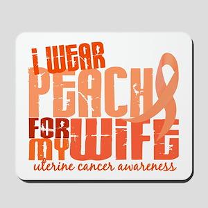 I Wear Peach 6.4 Uterine Cancer Mousepad