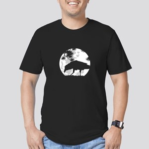 Raven or crow Men's Fitted T-Shirt (dark)