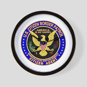 Border Patrol, US Citizen -  Wall Clock