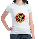 Border Patrol, US Citizen - Jr. Ringer T-Shirt