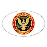 Border Patrol, US Citizen - Oval Sticker