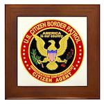 Border Patrol, US Citizen - Framed Tile