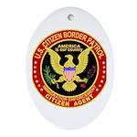 Border Patrol, US Citizen - Oval Ornament