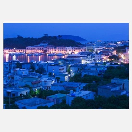 High angle view of a city, Ischia, Naples, Campani