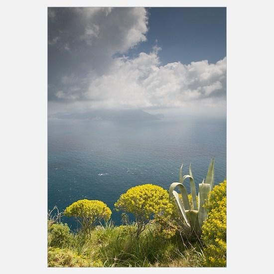 Sky over an island, Capri, Bay of Naples, Campania
