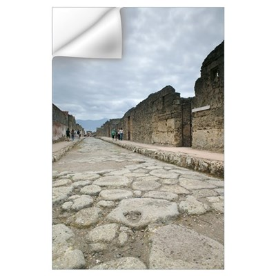 Tourists at old ruins, via di Mercurio, Pompeii, N Wall Decal