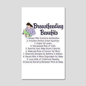 Breastfeeding Benefits 20x12 Wall Decal