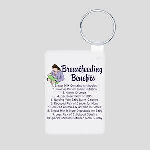 Breastfeeding Benefits Aluminum Photo Keychain