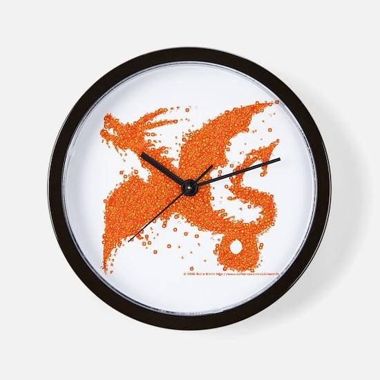 Firey Dragon Wall Clock